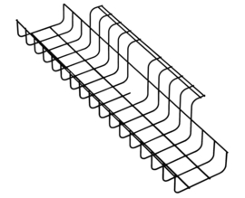 Horizontale Kabelgoot Trad 490mm of 790mm zwart wit aluminium