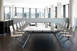 Glazen Vergadertafel Design tafel 160x160 cm, Arkitek