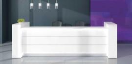 Receptiebalie Wit  Welkom de Luxe XL 192,6cm met zijkasten