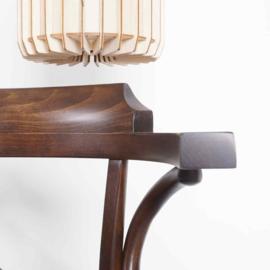 Kantine stoel Bistro Teo hout met armleuning