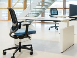 Bureau met zijwangen Pro-fit, T-poot frame, Nice Price Office
