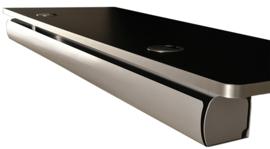 Horizontale Kabelgoot Turn, lengte 1150mm Zwart Zilver en Wit