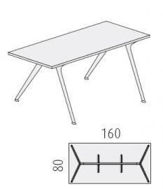 Glazen bureau Design tafel 160x80 cm, Arkitek