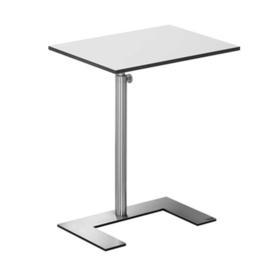 Laptop bijzet/ design tafel  For U Lourens Fisher wit rvs