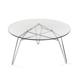 Glazen salontafel Diamond 80cm rond