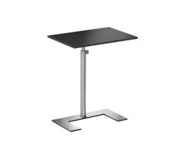 Laptop bijzet/ design tafel  Lourens Fisher zwart rvs