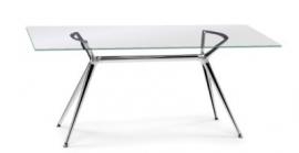 Glazen bureau Design tafel 140x85 cm, Metropolis