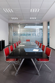 Glazen tussenblad met frame 160x120 cm tbv Vergadertafel 320x120 cm, Arkitek