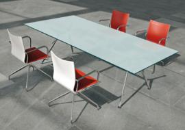 Glazen bureau Design tafel 220x110 cm, Arkitek