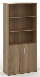 Half open houten kast in Halifax eiken 200x90x42cm