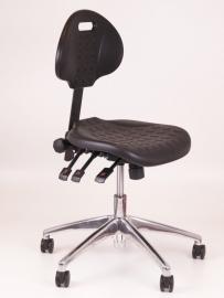 Werkstoel model 280 laag zwart, Alu