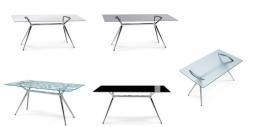 Glazen bureau Design tafel 160x90 cm, Metropolis