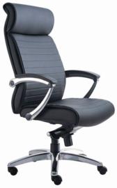 Directie bureaustoel Elegance de Luxe (zwart leder)