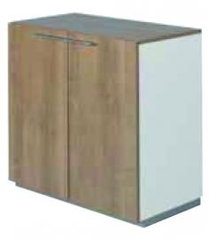 NPO houten tweedeurskast 2 OH  afm 80,8x80x44cm
