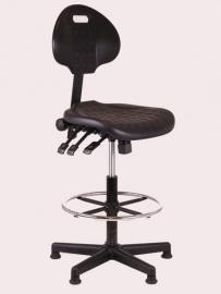 Werkstoel model 257 hoog zwart, Nylon