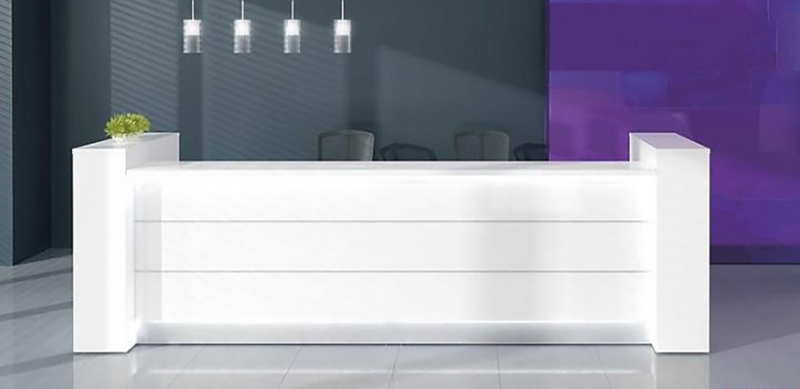 Receptiebalie Wit  Welkom de Luxe 2XL 292,6cm met zijkasten