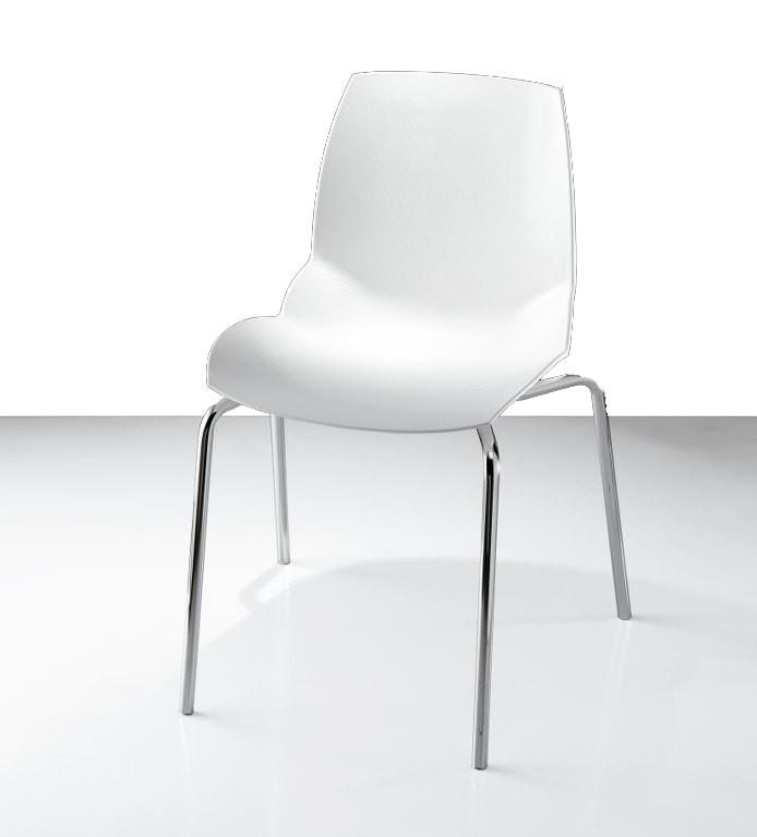 Witte Kunststof Design Stoelen.Designstoel Kunststof Kaleidos 4 Kunststofstoelen En