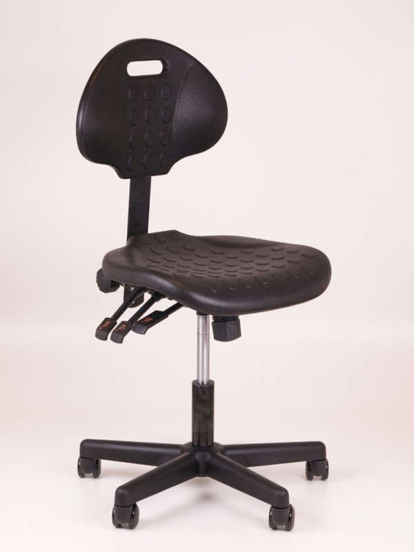Werkstoel model 281 laag zwart, Nylon