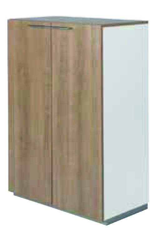 NPO houten tweedeurskast 3 OH  afm 119x80x44cm