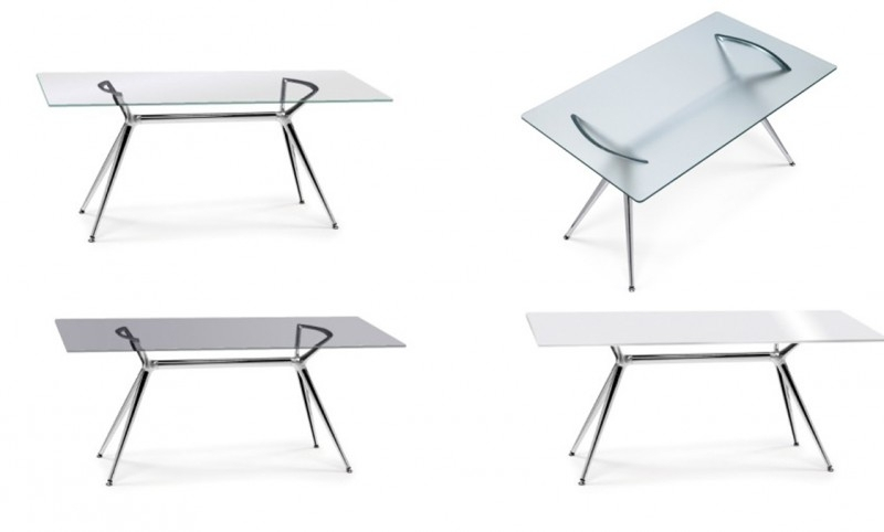 Bureau Met Glazen Blad.Glazen Bureau Design Tafel 140x85 Cm Metropolis Metropolis