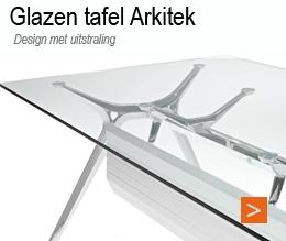 Bureau tafel design Arkitek glas