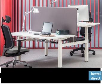 Duo werkplek zit sta bureau