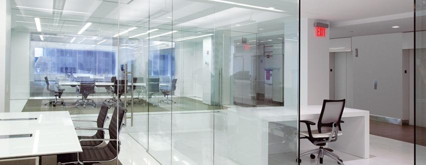 Projecthoge scheidingswanden Glas