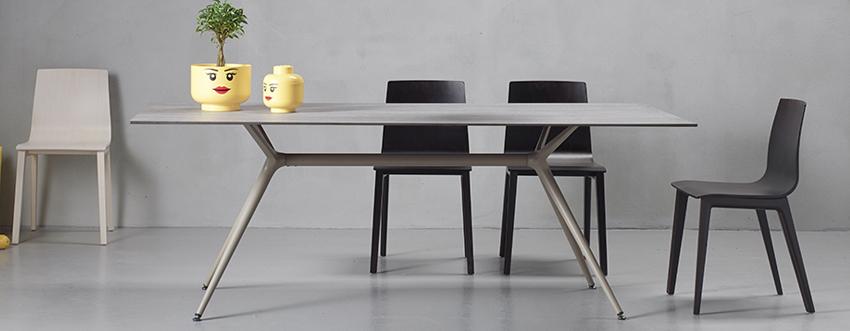 Glazen design bureau tafel Arkitek Metropolis