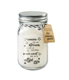 Black & White candle / Vrienden