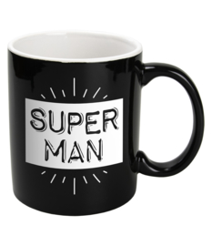 Mok Keramiek Black - SUPER MAN
