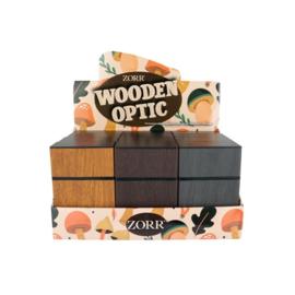 Wooden optic sigaretten box
