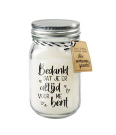 Black & White candle / Bedankt