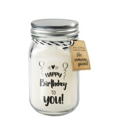Black & White candle / Happy Birthday