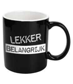 Mok Keramiek Black - LEKKER BELANGRIJK