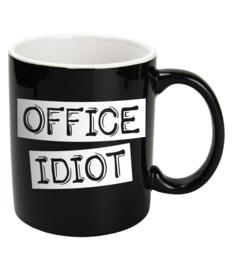 Mok Keramiek Black - OFFICE IDIOT