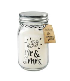 Black & White candle / Mr & Mrs