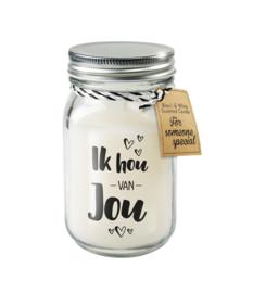 Black & White candle / Ik hou van jou