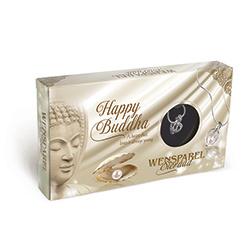 wensparel met zilveren ketting happy buddha