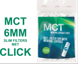 MCT click filter tips Menthol