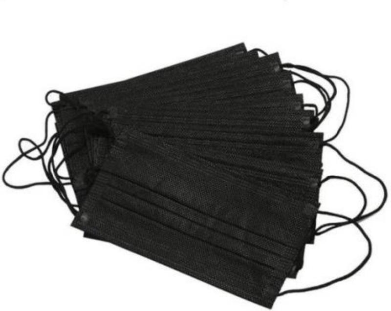 Medische mondkapjes zwart 10 stuks