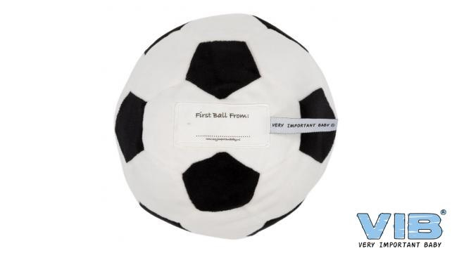 Pluche Voetbal 'First Ball From Wit-Zwart - VIB-TBWB02