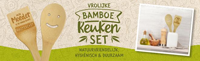 Bamboe keukenset