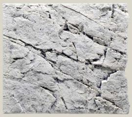 White Limestone 60B   aquarium  3D achterwand module