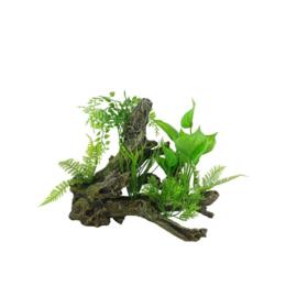 Aquarium decoratie Boomwortel met kunstplanten Aquascape 4