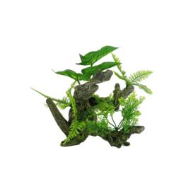 Aquarium decoratie Boomwortel met kunstplanten Aquascape 3