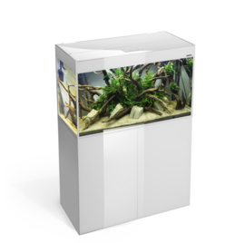 Osaka Glossy aquarium 100 White *Safe Tank* + Meubel