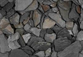 Black Slate 3-9cm  2KG aquarium decoratie stenen