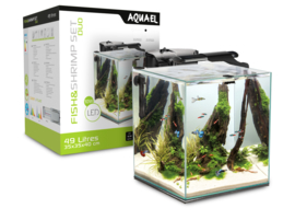 Osaka  Nano Aquarium Cube 49ltr zwart / Scapers tank