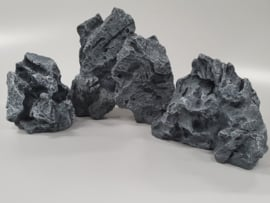 Aquarium decoratie rots Royal Granite Grey 1, 2 en 3
