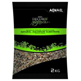 Natural Multicolored Gravel 1.4-2mm  2KG  aquarium grind